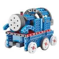 WJ.03.0101,儿童拼装积木智能电动巡线避障小车大颗粒组装玩具拼搭坦克模型