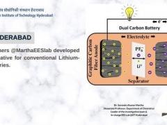 IITH研究人员开发出5V双碳电池 可替代传统锂离子电池